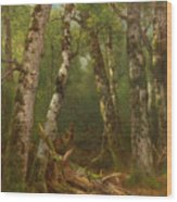 Group Of Trees Wood Print by Asher Brown Durand