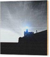 Guiding Light-alcatraz Wood Print by Douglas Barnard