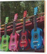 Guitars In Old Town San Diego Wood Print by Anna Lisa Yoder
