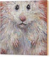 Hamster Painting  Wood Print by Svetlana Novikova