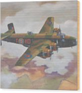 Handley Page Halifax Wood Print by Murray McLeod