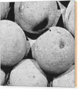 Hard Ball Wood Print by Slade Roberts