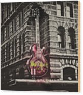 Hard Rock Philly Wood Print by Bill Cannon