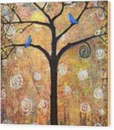 Harvest Moon Wood Print by Blenda Studio