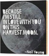 Harvest Moon Wood Print by Cindy Greenbean