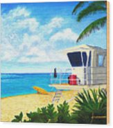 Hawaii North Shore Banzai Pipeline Wood Print by Jerome Stumphauzer
