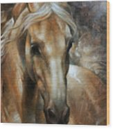 Head Horse 2 Wood Print by Arthur Braginsky