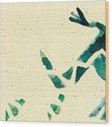 Hear The Lizard Wood Print by Annie Alexander