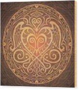 Heart Of Wisdom Mandala Wood Print by Cristina McAllister