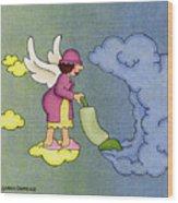 Heavenly Housekeeper Wood Print by Sarah Batalka