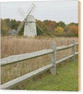 Higgins Farm Windmill Brewster Cape Cod Wood Print by Matt Suess