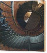 Highland Lighthouse Stairs Cape Cod Wood Print by Matt Suess