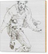 History Concert - Michael Jackson Wood Print by David Lloyd Glover