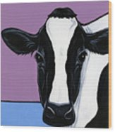 Holstein Wood Print by Leanne Wilkes