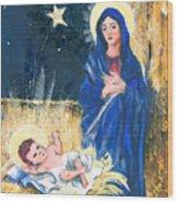 Holy Christmas No. 2 Wood Print by Elisabeta Hermann