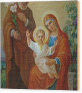 Holy Family With The Vine Tree Wood Print by Svitozar Nenyuk