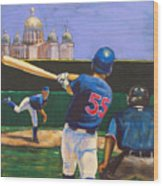 Home Run Wood Print by Buffalo Bonker