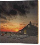 Home To Derek Jarman Wood Print by Lee-Anne Rafferty-Evans