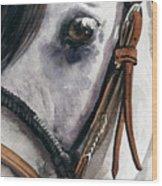 Horse Head Wood Print by Nadi Spencer