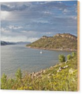 Horsetooth Dam Co Wood Print by James Steele
