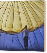 Hot Air Balloon - 11 Wood Print by Randy Muir