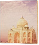Hot Taj Mahal Wood Print by Nila Newsom