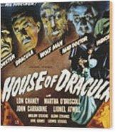 House Of Dracula, Glenn Strange, John Wood Print by Everett