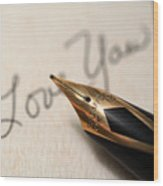 I Love You Wood Print by June Marie Sobrito