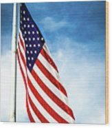 I Pledge Allegiance Wood Print by Shelby  Young