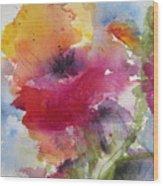 Iceland Poppy Wood Print by Anne Duke