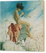 Idyll Wood Print by Mariano Fortuny y Marsal