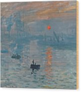 Impression Sunrise Wood Print by Claude Monet