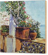 Impressions Of The Riviera Wood Print by David Lloyd Glover