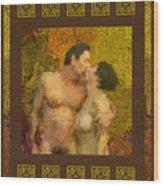 In Love Wood Print by Kurt Van Wagner