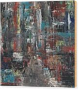 In The City Wood Print by Frances Marino
