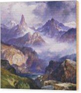 Index Peak Yellowstone National Park Wood Print by Thomas Moran