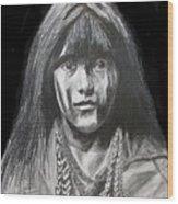 Indian Princess Wood Print by Stan Hamilton