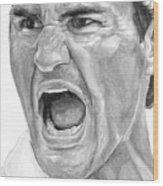 Intensity Federer Wood Print by Tamir Barkan