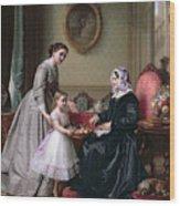 Interior At 'the Chestnuts' Wimbledon Grandmother's Birthday Wood Print by J L Dyckmans