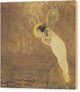 Iris Spirit Of The Rainbow Wood Print by John Atkinson Grimshaw