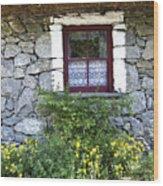 Irish Cottage Window County Clare Ireland Wood Print by Teresa Mucha