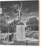 Iron Mke Statue - Parris Island Wood Print by Scott Hansen