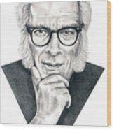 Isaac Asimov Wood Print by Murphy Elliott