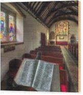 Isaiah 59 Wood Print by Adrian Evans