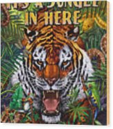 It's A Jungle  Wood Print by JQ Licensing