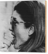 Jacqueline Kennedy Onassis Licks An Ice Wood Print by Everett