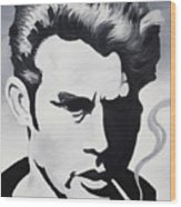 James Dean  Wood Print by Joseph Palotas