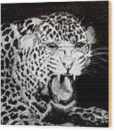 Jaquar II Wood Print by Stan Hamilton