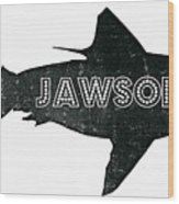 Jawsome Wood Print by Michelle Calkins