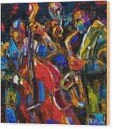 Jazz Wood Print by Debra Hurd